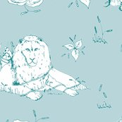 Lion_mouse_toile_green-copy_shop_thumb