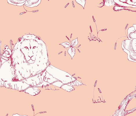 Lion_mouse_toile_peach_shop_preview