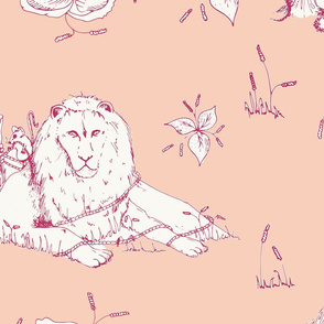 lion_mouse_toile_peach