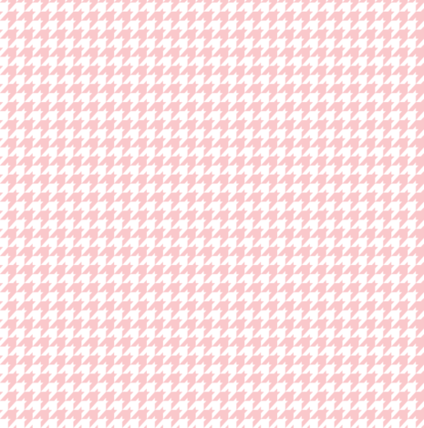 Light Pink Baby Houndstooth