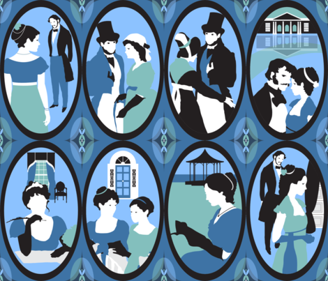 JaneAusten fabric by paula's_designs on Spoonflower - custom fabric
