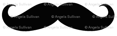 Black on White Mustache