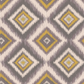 Tribal Diamond Ikat-Yellow & Gray