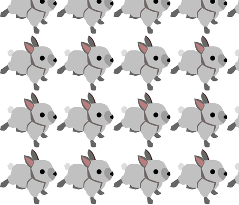 Baby Bunny Decal 5x5 fabric by richardrainbolt on Spoonflower - custom fabric