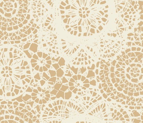 doilies_tan fabric by katarina on Spoonflower - custom fabric
