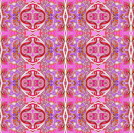 Magenta Christmas (secular vertical paisley stripe) fabric by edsel2084 on Spoonflower - custom fabric