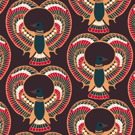 Egyptian Ducks fabric by pond_ripple on Spoonflower - custom fabric