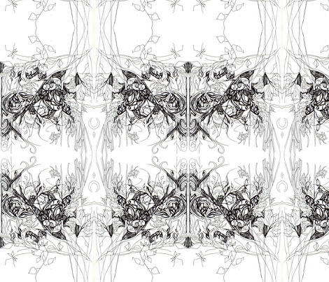 blackandwhite fabric by maryo on Spoonflower - custom fabric