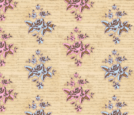 Jane Austin inspiration fabric by fantazya on Spoonflower - custom fabric