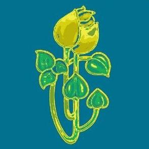 Art Nouveau45-blue/green