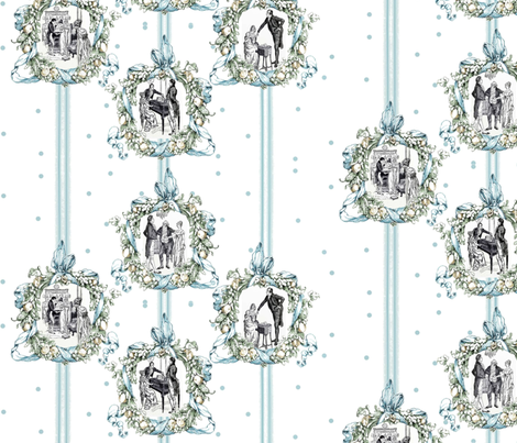 Pride & Prejudice framed our Love fabric by lizartelier on Spoonflower - custom fabric