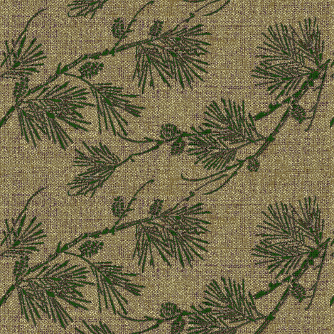 pine - green/gold-beige fabric by materialsgirl on Spoonflower - custom fabric