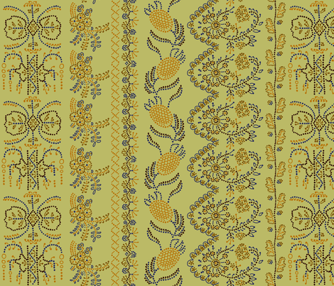 Regency Embroideries fabric by mongiesama on Spoonflower - custom fabric