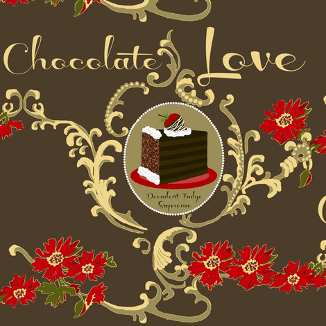 Chocolate Love / cake fabric by paragonstudios on Spoonflower - custom fabric