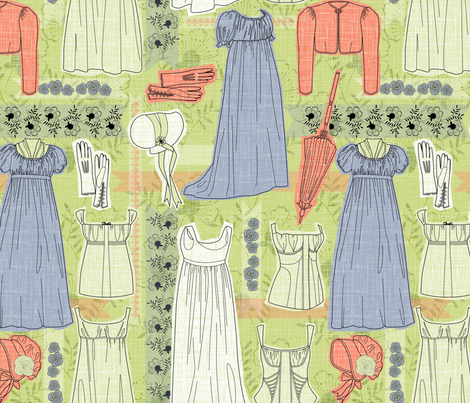 Elinor Dashwood's London wardrobe fabric by cjldesigns on Spoonflower - custom fabric