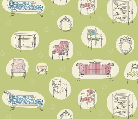 Pemberley Print fabric by jenimp on Spoonflower - custom fabric
