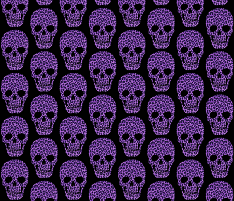 Leopard Skull fabric by redravendesigns on Spoonflower - custom fabric
