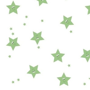 Happy Stars in Green.