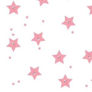 Happy Stars in Pink.