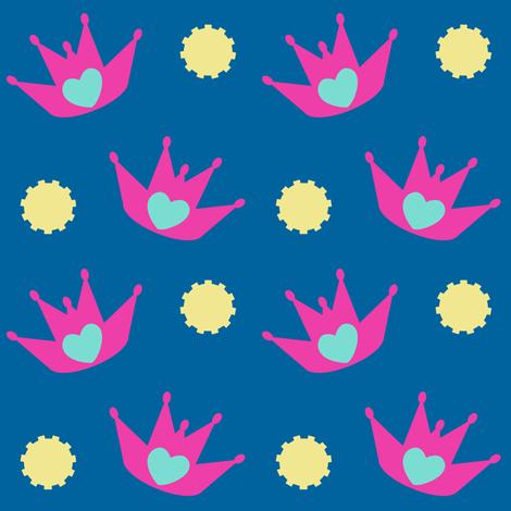 Queen Of Rock! - Tropical Fabungalow! -   © PinkSodaPop 4ComputerHeaven.com fabric by pinksodapop on Spoonflower - custom fabric