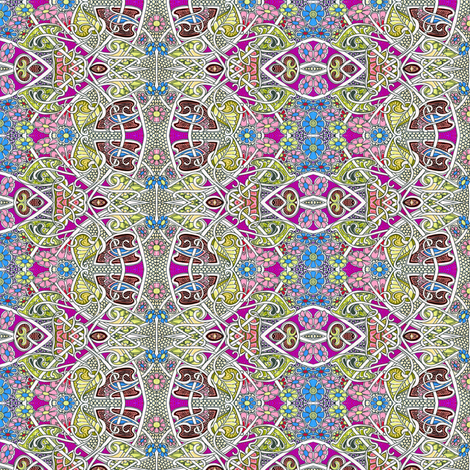 Teenage Flower Power fabric by edsel2084 on Spoonflower - custom fabric