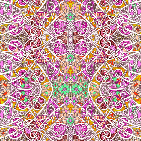 Sunshine Tangle For the New Flower Children fabric by edsel2084 on Spoonflower - custom fabric