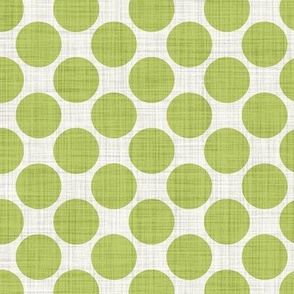 Distressed Dots in Lime