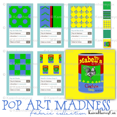 Pop Art Madness Fabric Collection