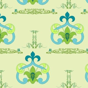 Art Nouveau46-green/blue