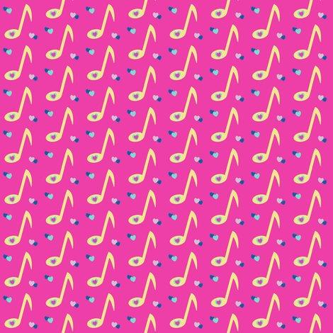 Rrrmusicnotegoldheartspinkltbluedarkblueonpinkbkgbypinksodapop_shop_preview