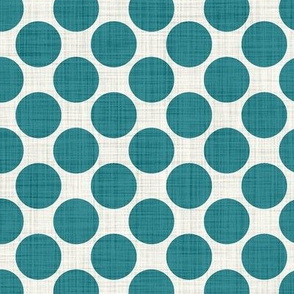 Distressed Dots in Teal