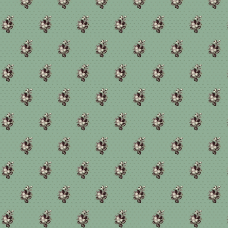 Best Green Calico fabric by the_cornish_crone on Spoonflower - custom fabric