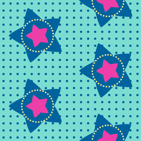 Super Stars Rock The Dots! - Rock & Royalty  - © PinkSodaPop 4ComputerHeaven.com fabric by pinksodapop on Spoonflower - custom fabric