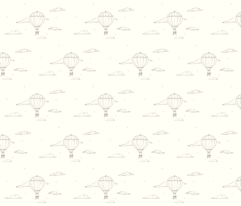 Hot Air Balloon fabric by crowlands on Spoonflower - custom fabric