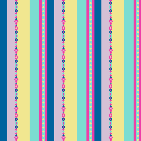 Love Bead Stripes That Rock! - Rock & Royalty - Tropical Fabungalow - © PinkSodaPop 4ComputerHeaven.com fabric by pinksodapop on Spoonflower - custom fabric