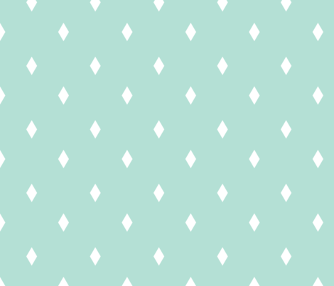 mini diamond mint fabric by alihenrie on Spoonflower - custom fabric