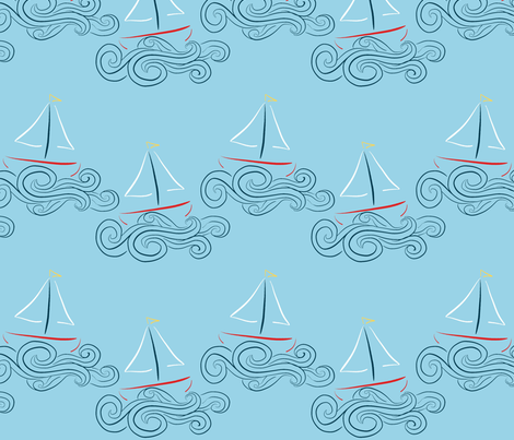 Sailing 5 fabric by mgterry on Spoonflower - custom fabric