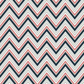 CoralNavyGreyChevron
