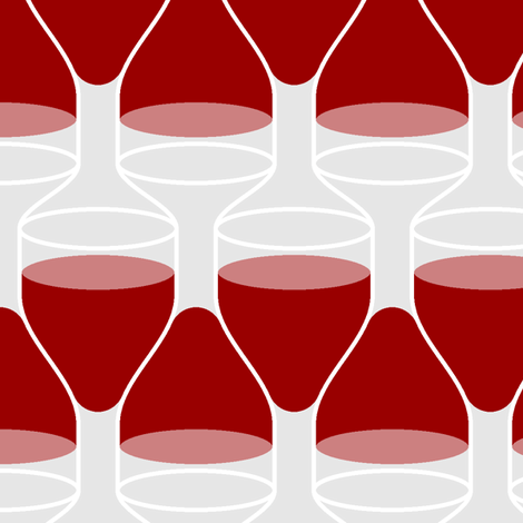 stacking wine-glasses : red fabric by sef on Spoonflower - custom fabric