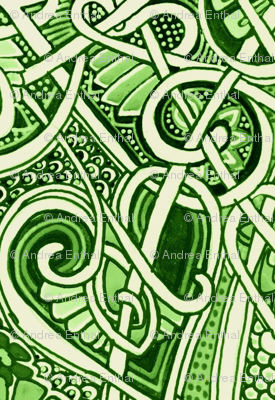 Wishing It Were Money (a fine scale green abstract)
