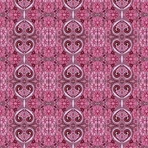 Monochrome Meadow (pink vertical stripe)