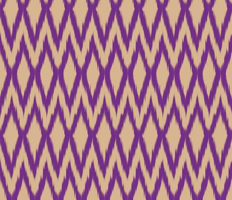Purple Diamond Ikat fabric by fable_design on Spoonflower - custom fabric