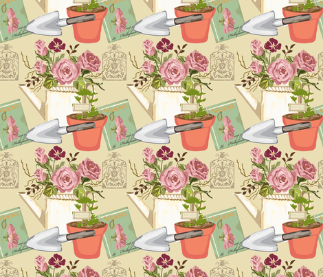 My_Garden fabric by ©_lana_gordon_rast_ on Spoonflower - custom fabric