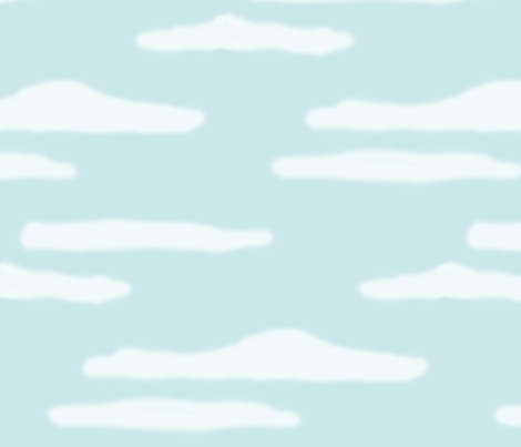 gruff clouds fabric by doodleandhoob on Spoonflower - custom fabric