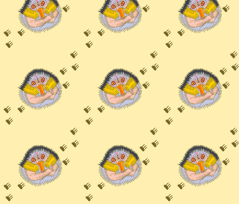 echidna baby 342 fabric by wiccked on Spoonflower - custom fabric
