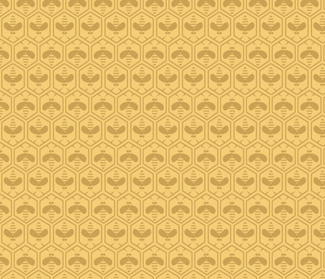honey and bees fabric by glimmericks on Spoonflower - custom fabric