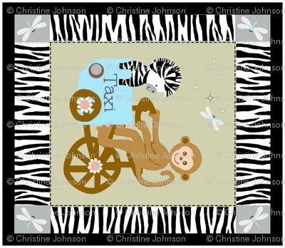 funday quilt / monkey