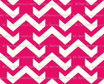chevron hot pink
