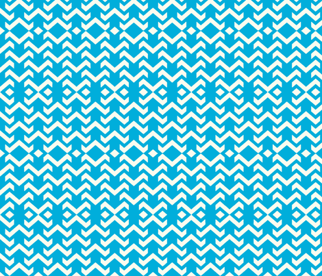 chevron aqua fabric by vos_designs on Spoonflower - custom fabric