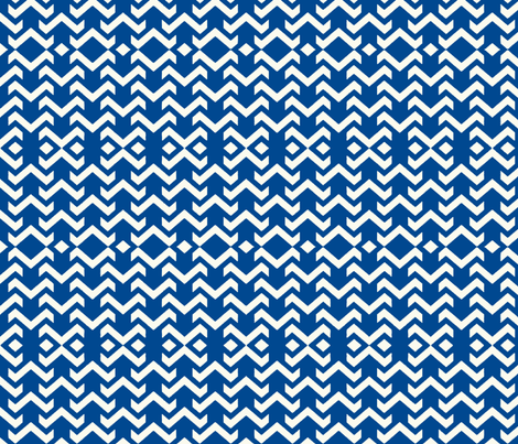 chevron navy fabric by vos_designs on Spoonflower - custom fabric